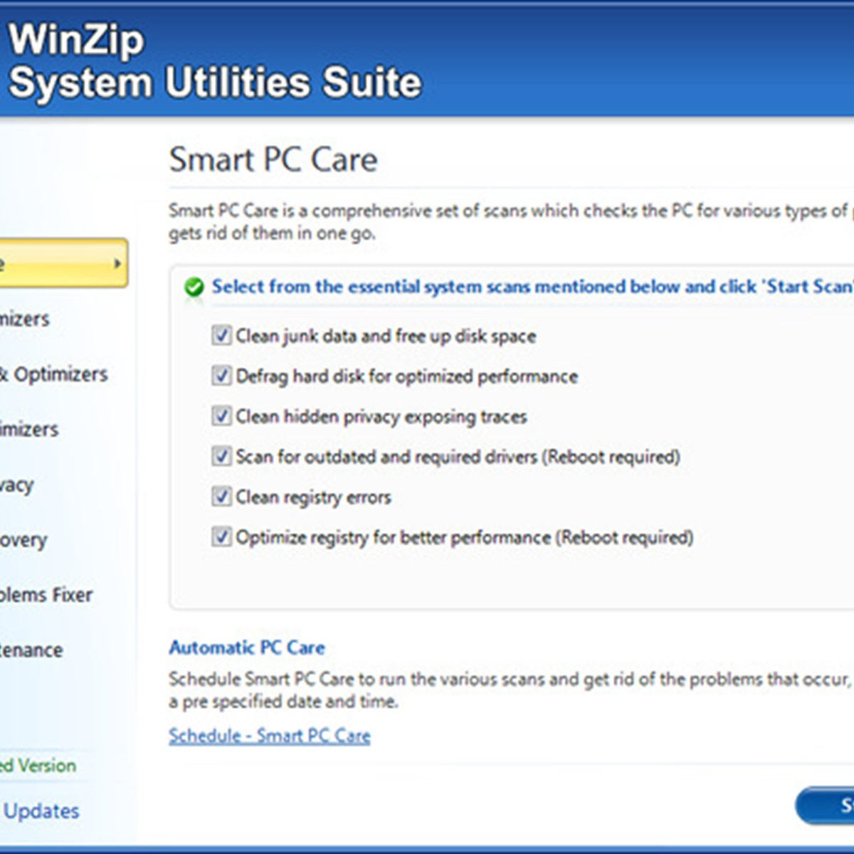 WinZip System Utilities Suite Alternatives and Similar ...