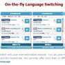 On-the-fly: Language Switching