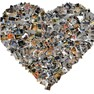 Photo collage in the shape of a heart