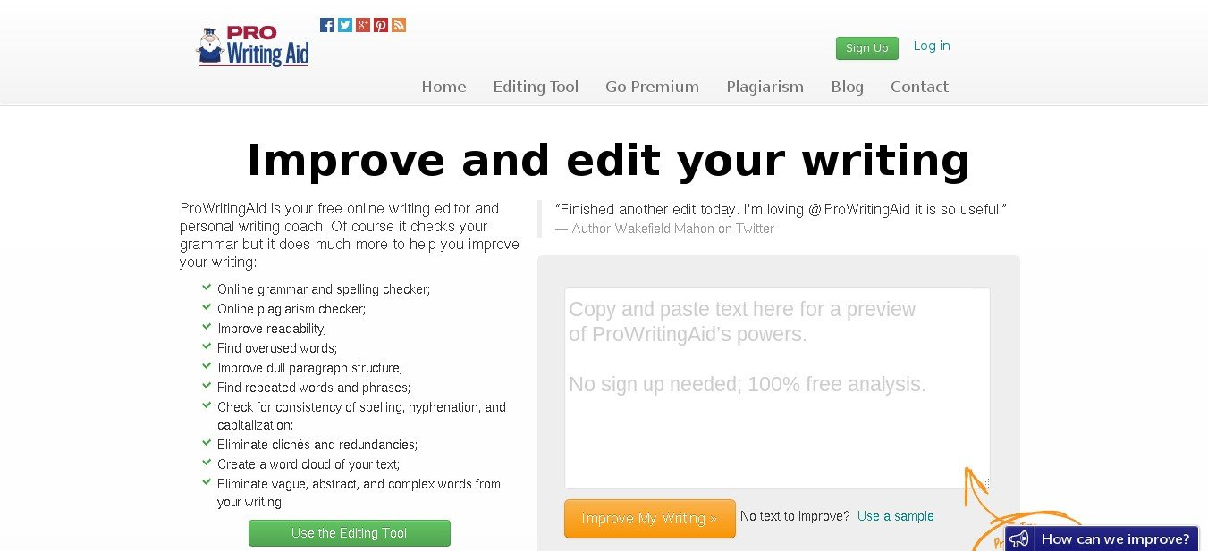 prowritingaid alternatives and similar websites and apps  writing tool · homepage