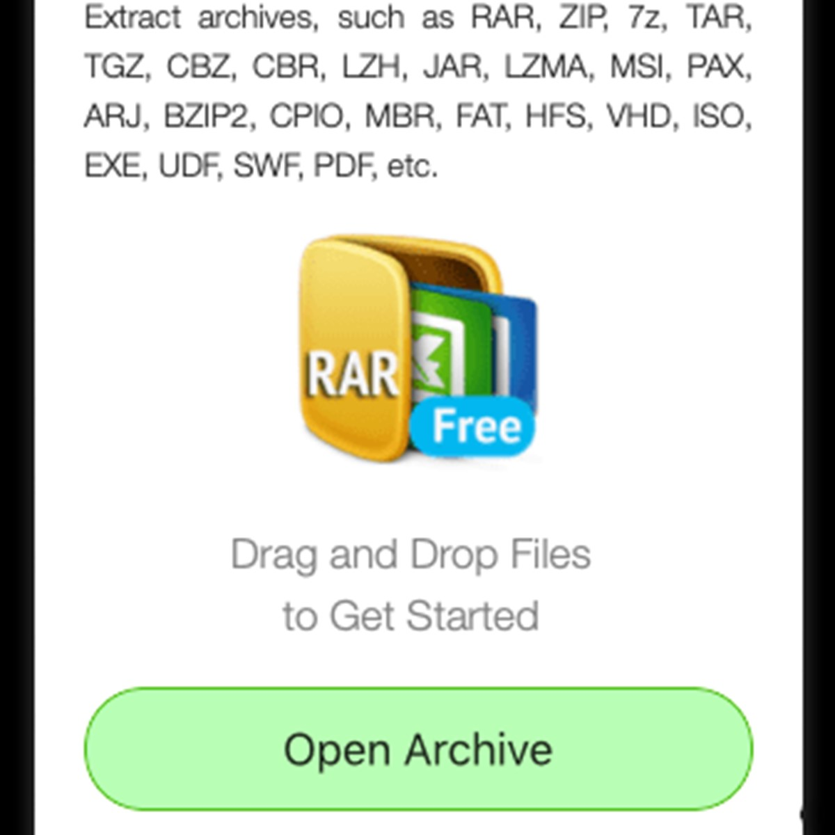 free rar extractor