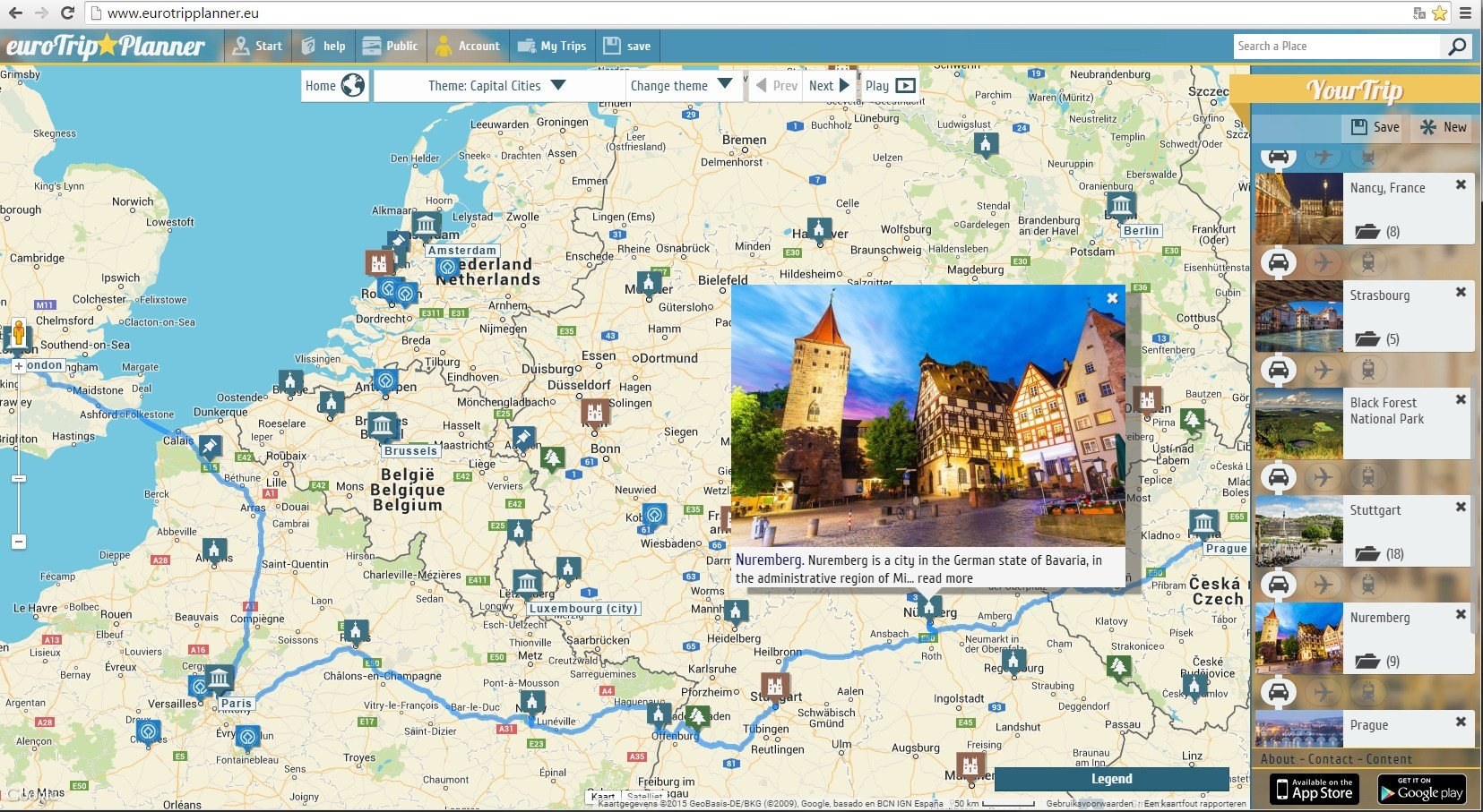 eurotrip planner alternatives and similar apps and websites