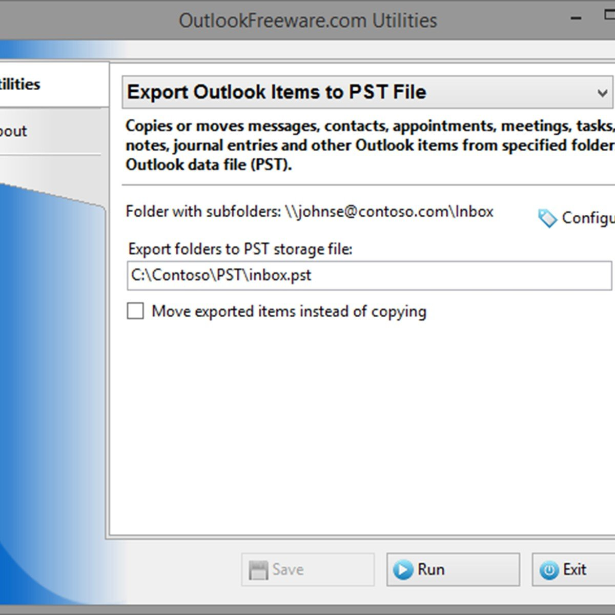 Export Outlook Items to PST File Alternatives and Similar Software
