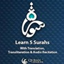 Lear Five Surah with Translation, Transliteration and Audio Recitation. icon