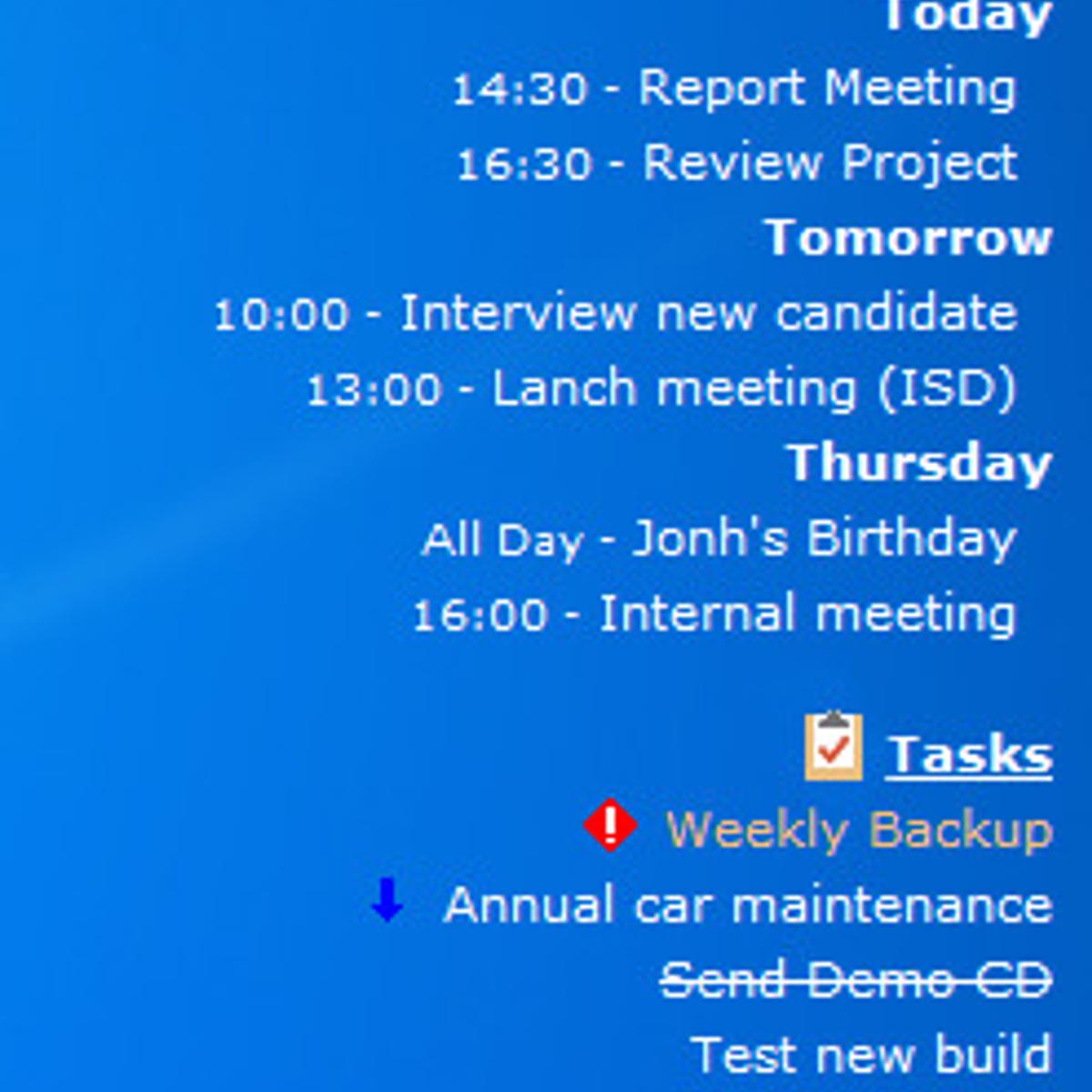 active desktop calendar alternative