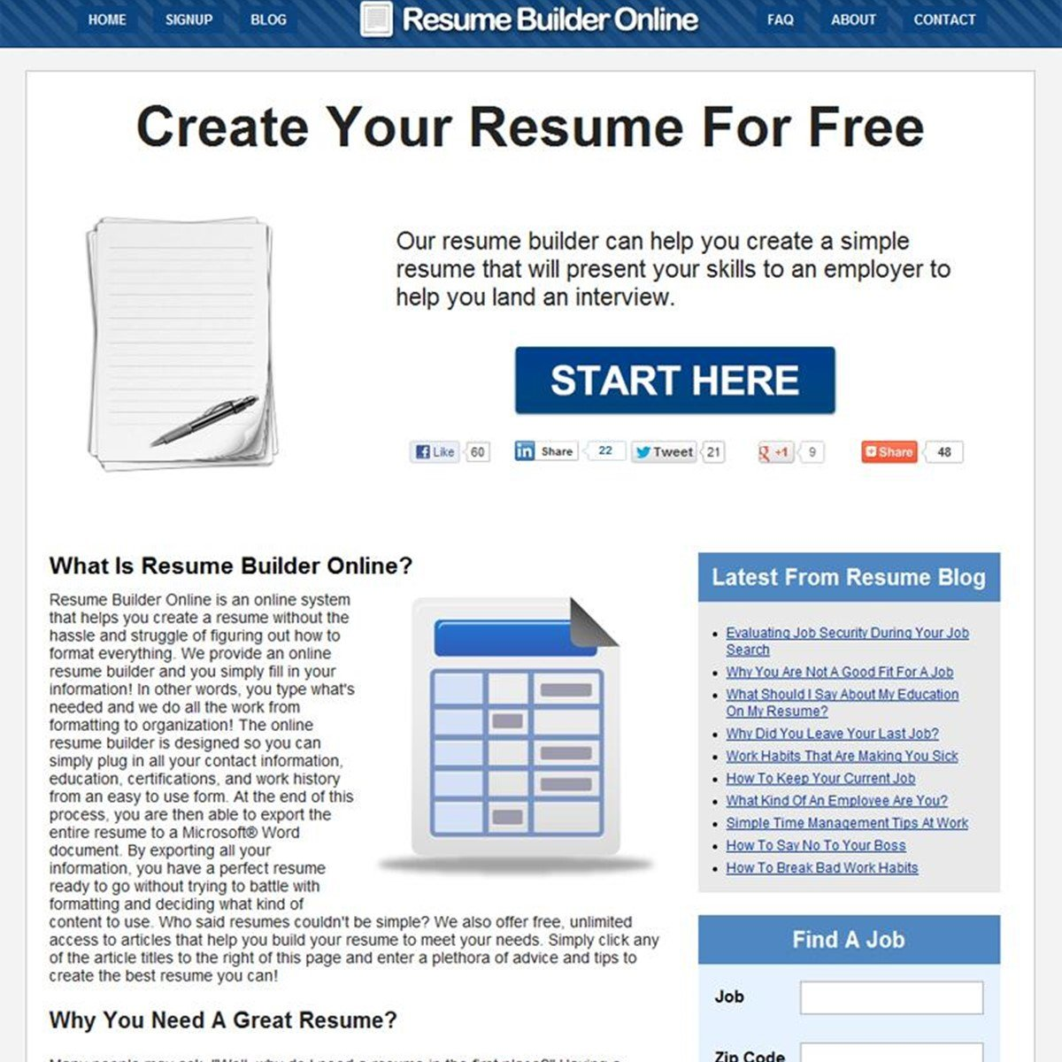 Free Resume Builder Online Alternatives