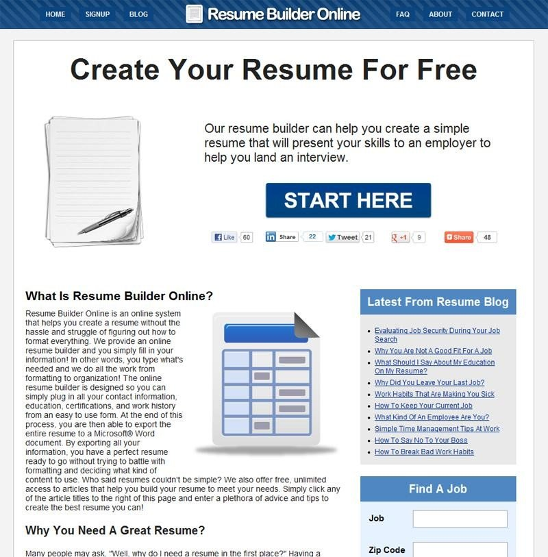 Resume Builder Online Alternatives and Similar Software ...