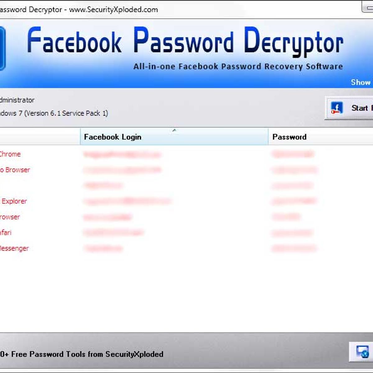 Facebook Password Decryptor Alternatives and Similar