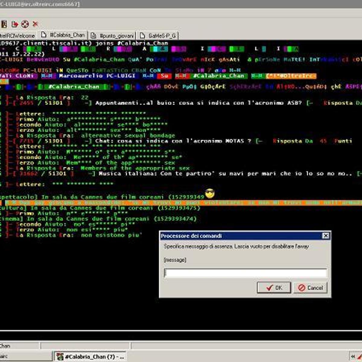 Flash irc client