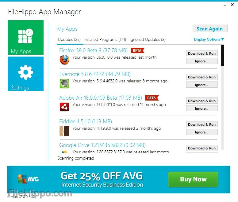 FileHippo App Manager Alternatives and Similar Software