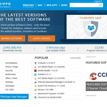 FileHippo Alternatives and Similar Websites and Apps