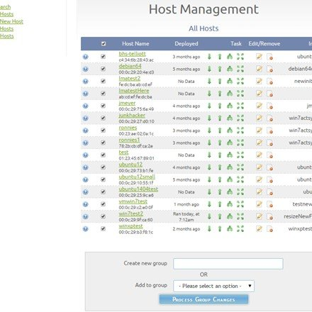 Host management