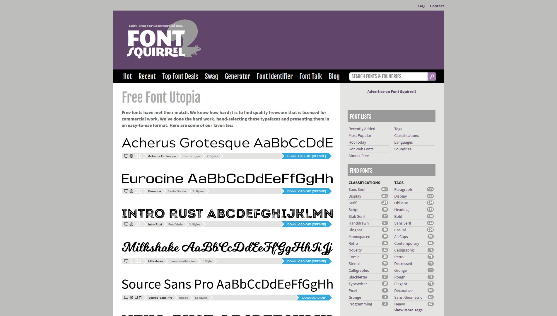 Font Squirrel Alternatives and Similar Websites and Apps