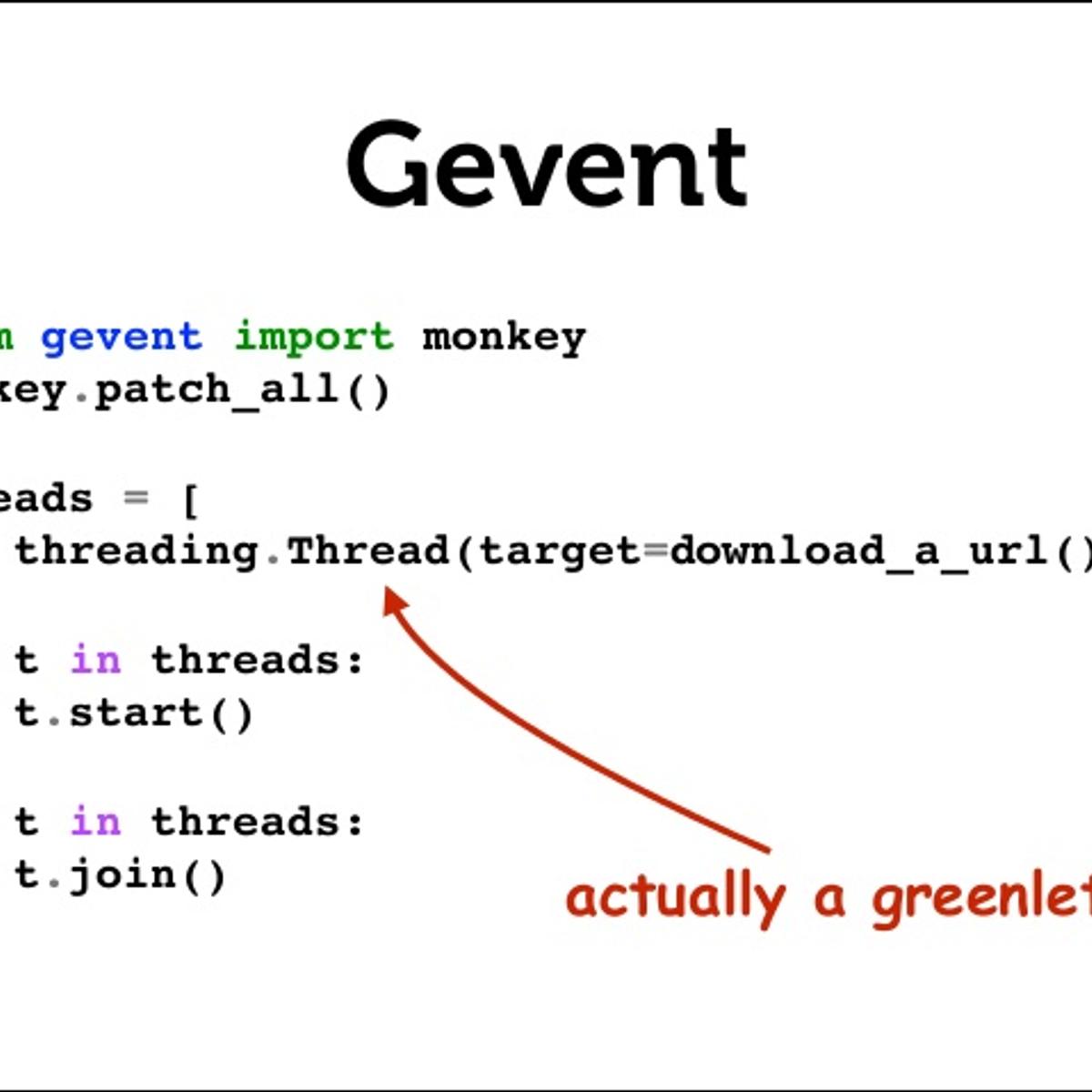 Gevent Multithreading