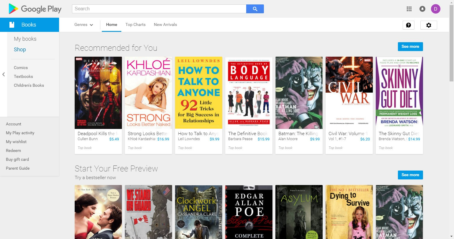 google play books alternatives and similar software