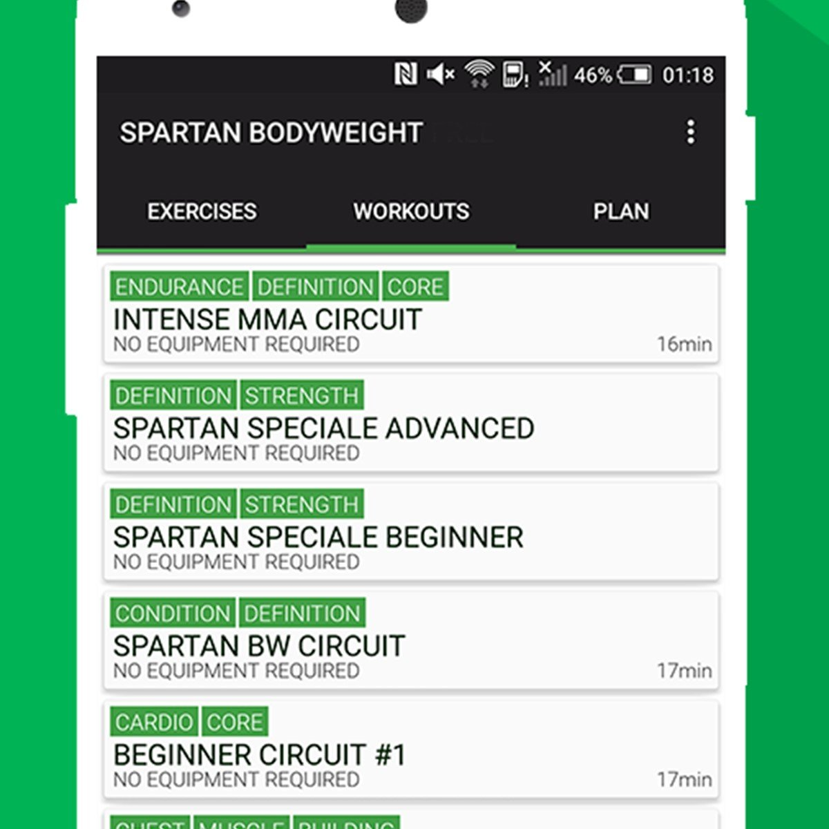 Home Workout MMA Spartan Free - Body Weight Alternatives and