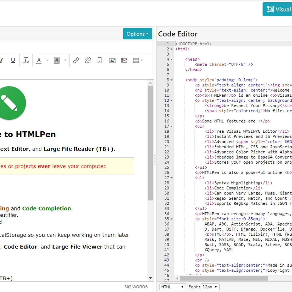 HTMLPen com Alternatives and Similar Websites and Apps