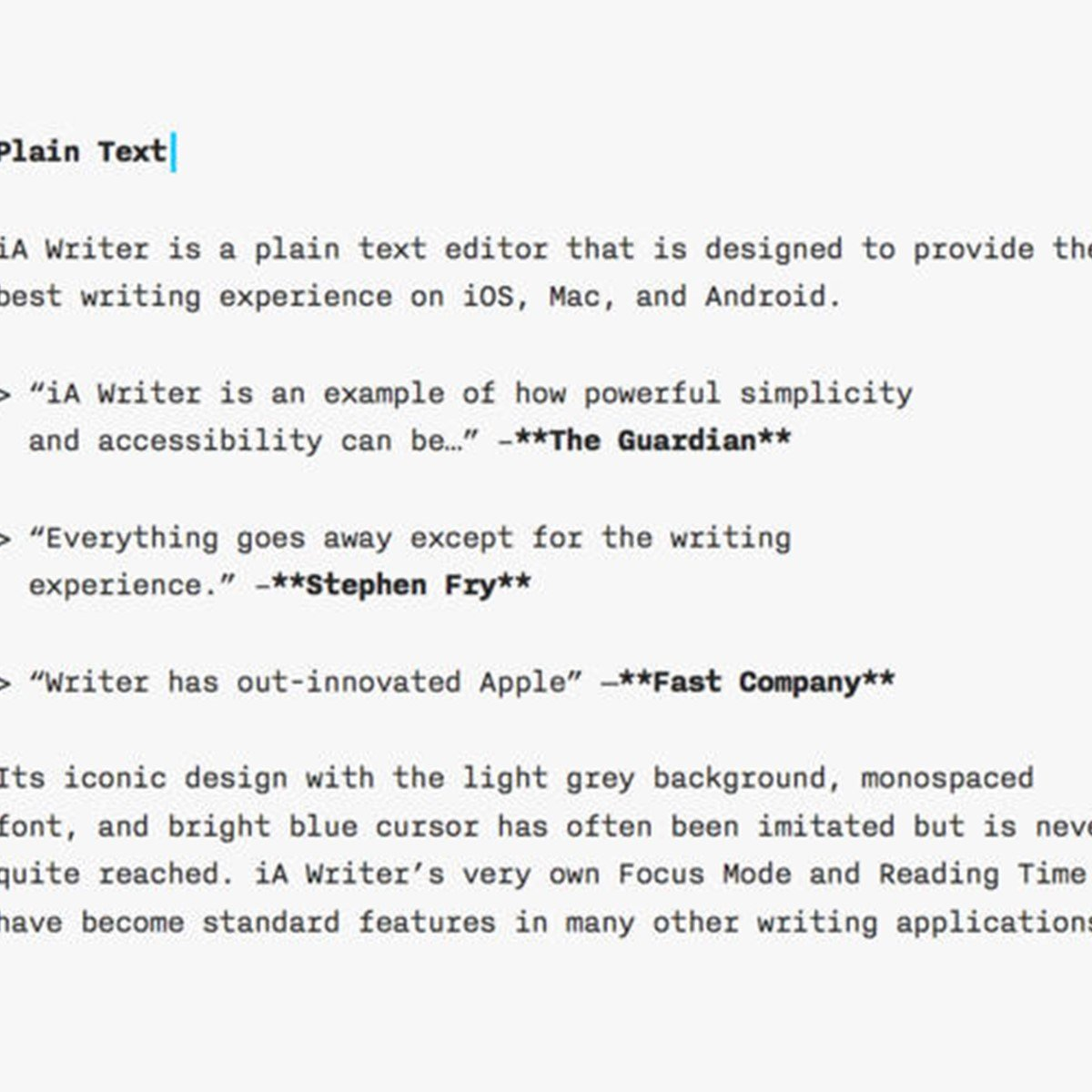 iA Writer Alternatives and Similar Software - AlternativeTo net