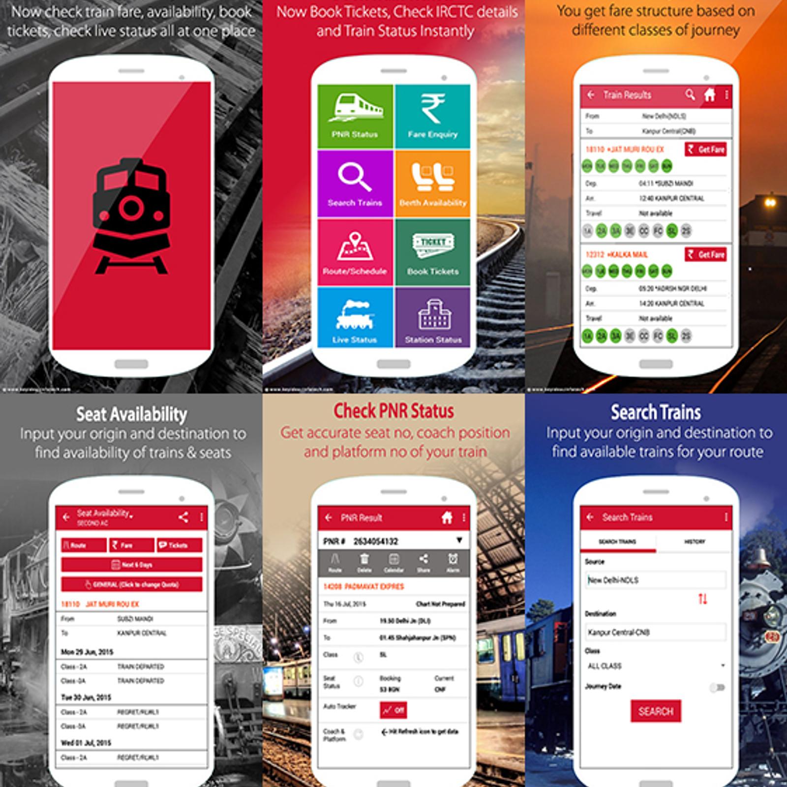 Indian Rail PNR Status & IRCTC Alternatives and Similar Apps