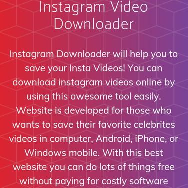 Instagram Video Downloader Alternatives and Similar Websites and