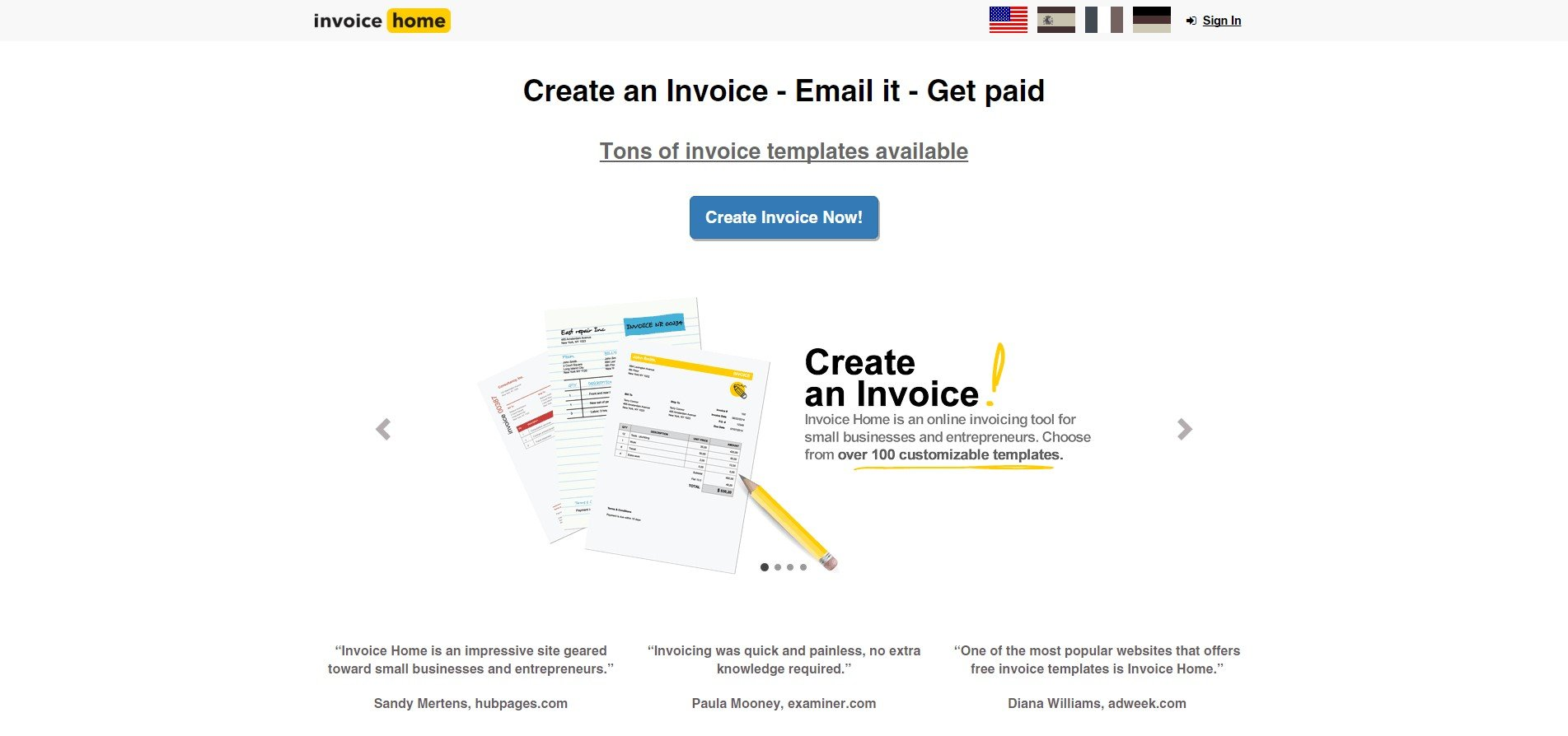 invoice home alternatives and similar websites and apps