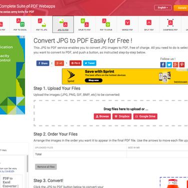 JPG to PDF Converter Alternatives and Similar Websites and