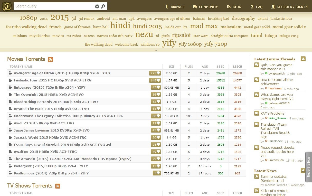 Movie Torrent Downloads For Free