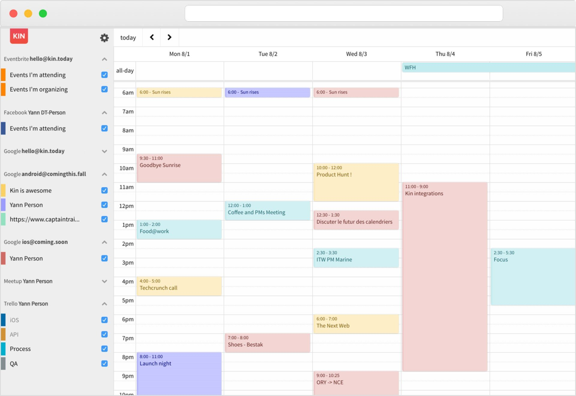 Kin Calendar Alternatives and Similar Websites and Apps