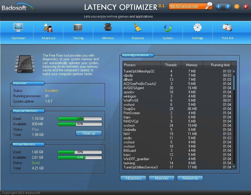 Latency Optimizer Alternatives and Similar Software - AlternativeTo net