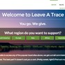 Leave A Trace homepage