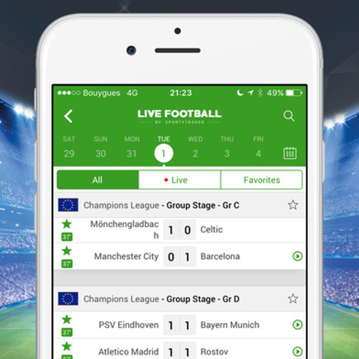 Live Football Scores Alternatives and Similar Apps