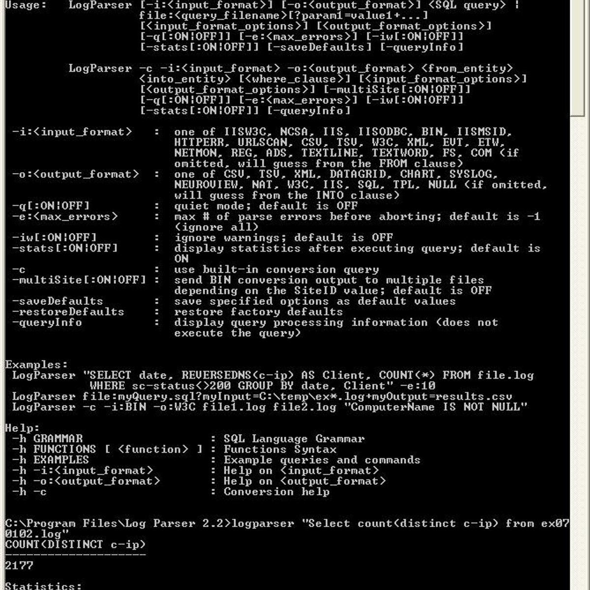 Microsoft Log Parser Alternatives and Similar Software