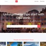 Example home page of a marketplace website like Airbnb. icon