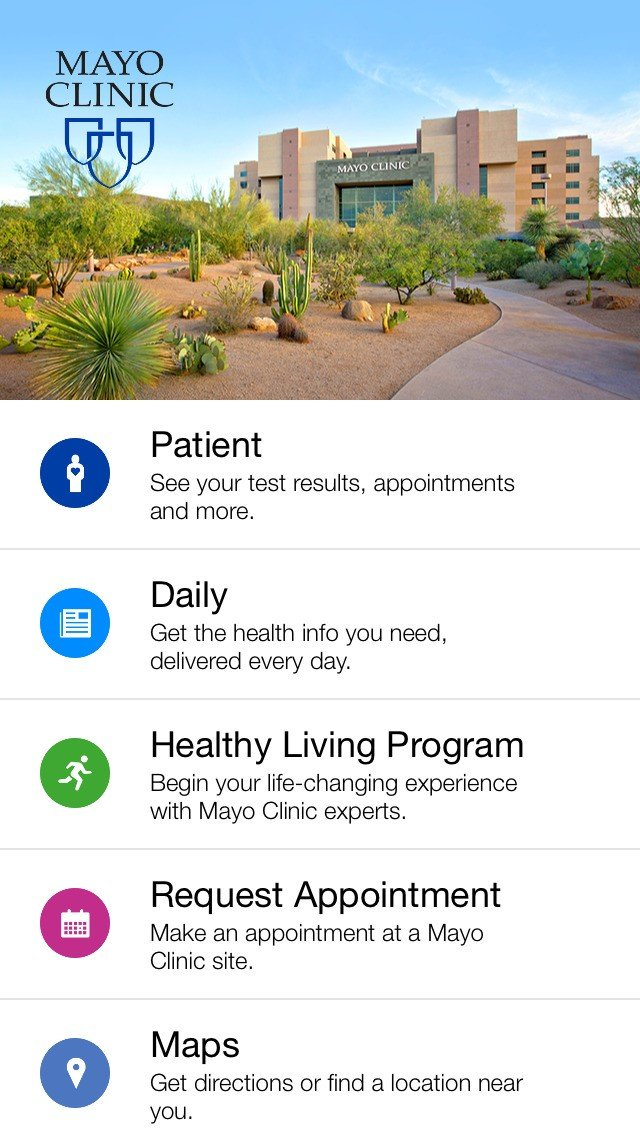 May 14, · Mayo Clinic is now available on Apple Watch. If you are a Mayo Clinic Patient you can get up-to-the-minute itinerary changes and view all of your upcoming appointments right from your Apple Watch. Every update of our Mayo Clinic app includes improvements for speed and reliability/5().