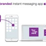 Your branded instant messaging app for iOS, Android and web.