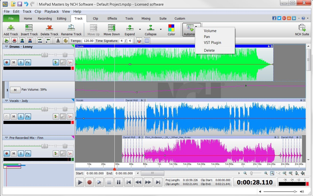 mixpad multitrack recording software manual
