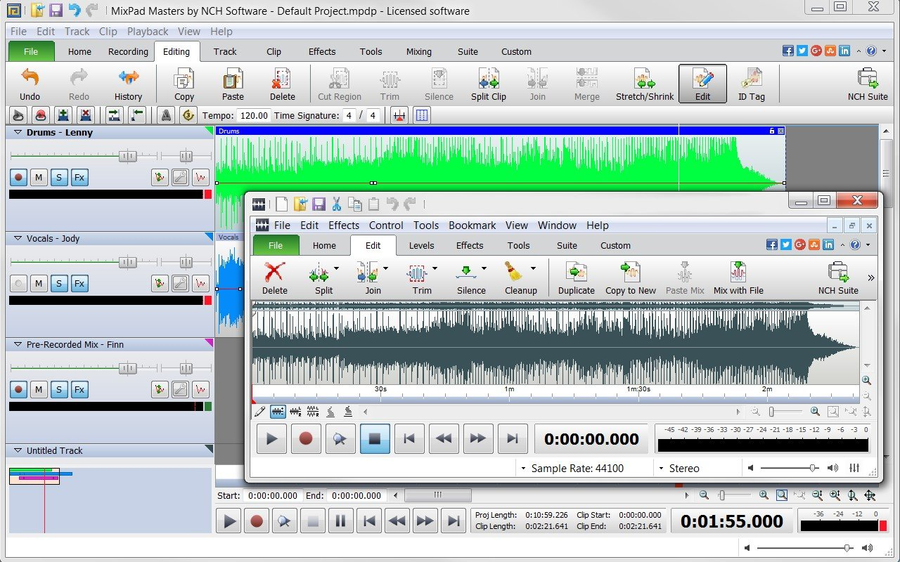 mixpad multitrack recording software for pc download full version