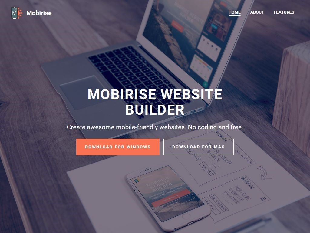 mobirise free mobile website builder software mobirise