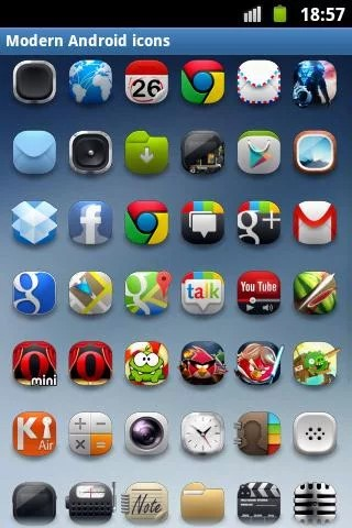 Modern Android icon pack Alternatives and Similar Apps