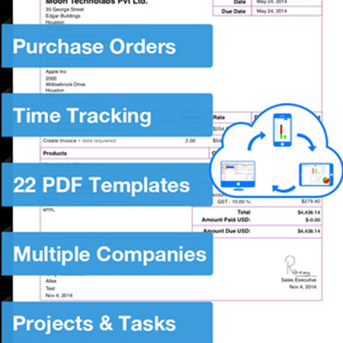 Invoice Templat Excel Moon Invoice Alternatives And Similar Software  Alternativetonet Customs Invoice Excel with Email Receipts To Concur Excel  Receipt Printer For Android Excel