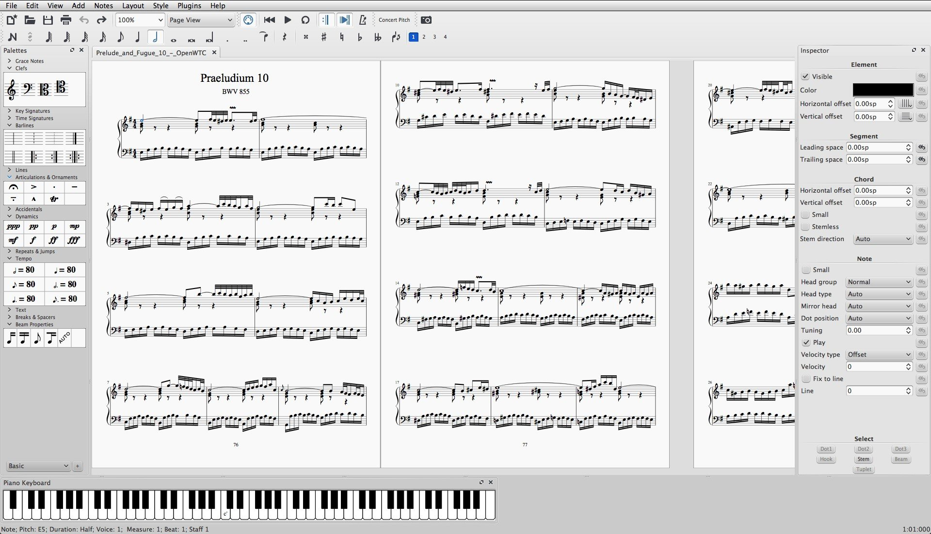 how to add notes in musescore 2