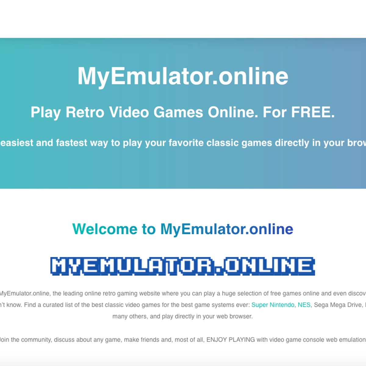 MyEmulatorOnline Alternatives and Similar Games