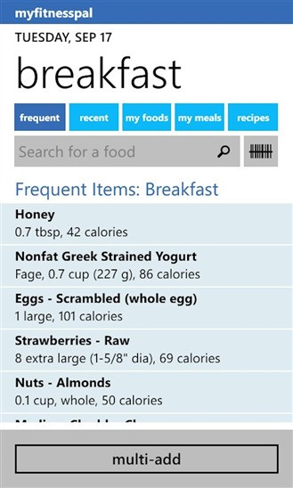 livestrong calorie tracker windows mobile