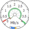 Data rate chart (design -  circle / speedometer). icon