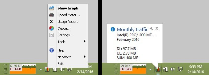 networx bandwidth monitor review
