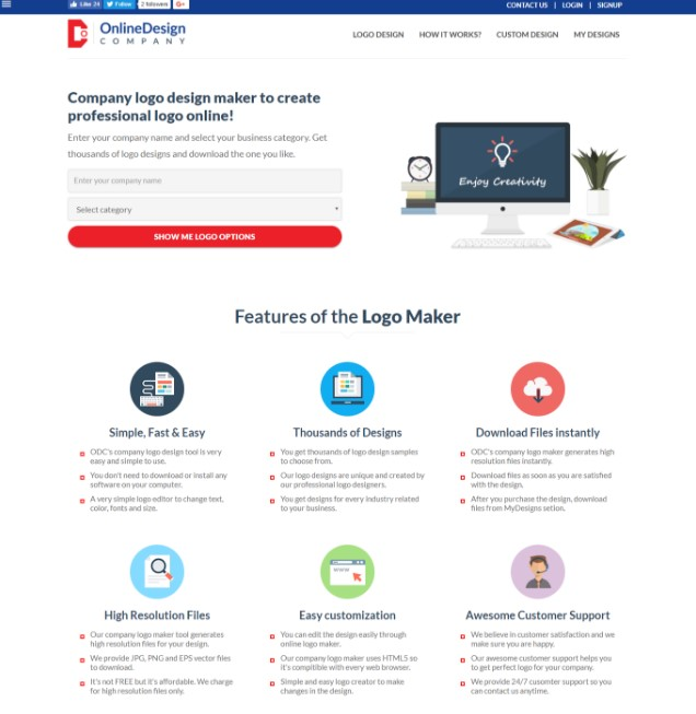 online design company alternatives and similar websites and apps