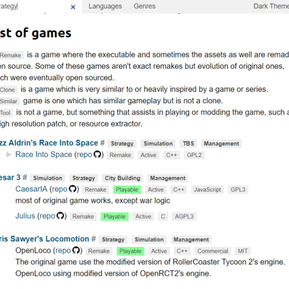 Open Source Game Clones Alternatives and Similar Websites and Apps