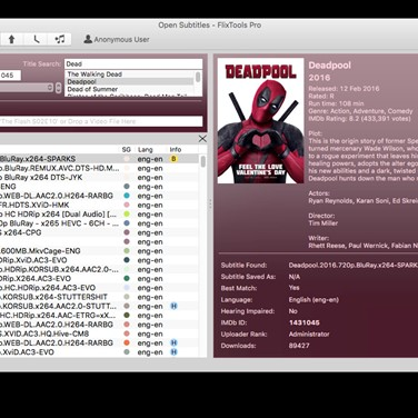Open Subtitles FlixTools Alternatives and Similar Software