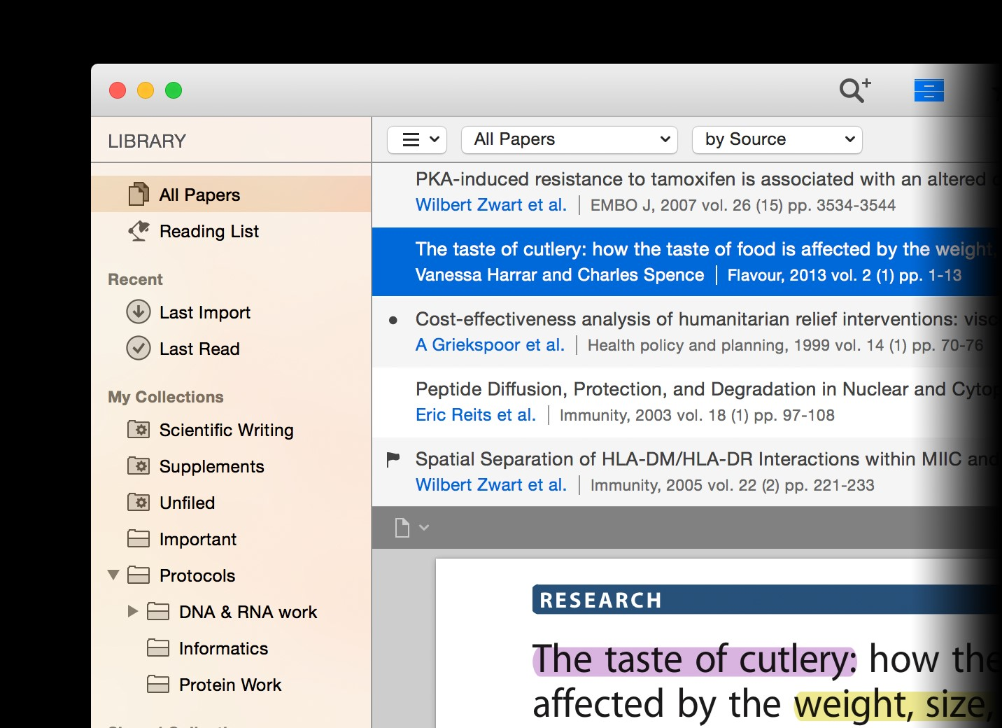 organize research papers software