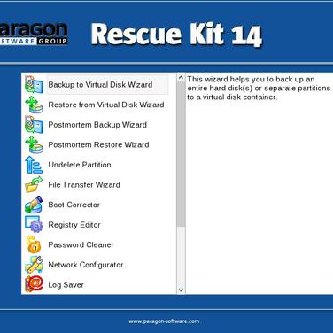 Paragon Rescue Kit Alternatives and Similar Software